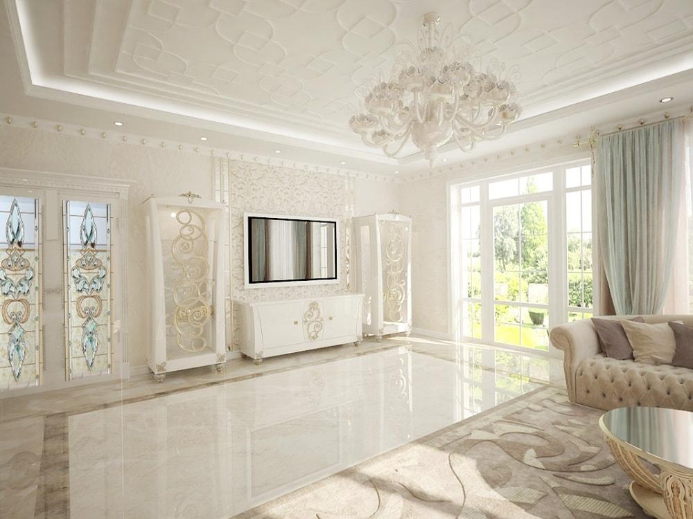 роскошный интерьер гостиной