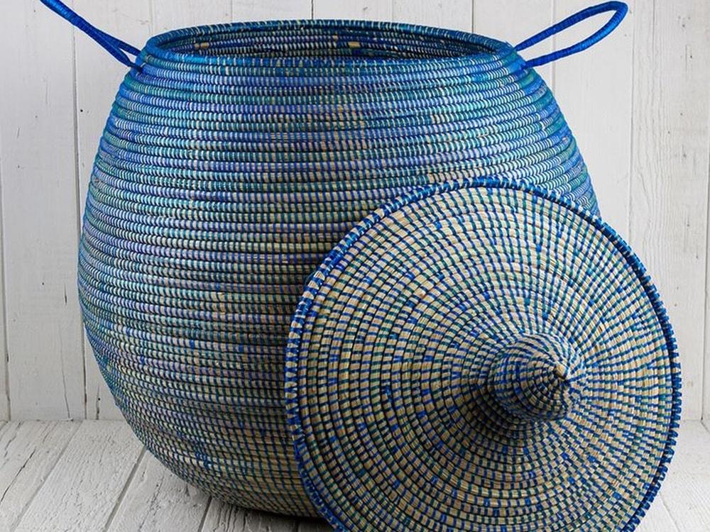 Плетеные корзины из ротанга