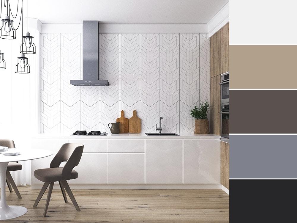 кухня в нейтральных тонах
