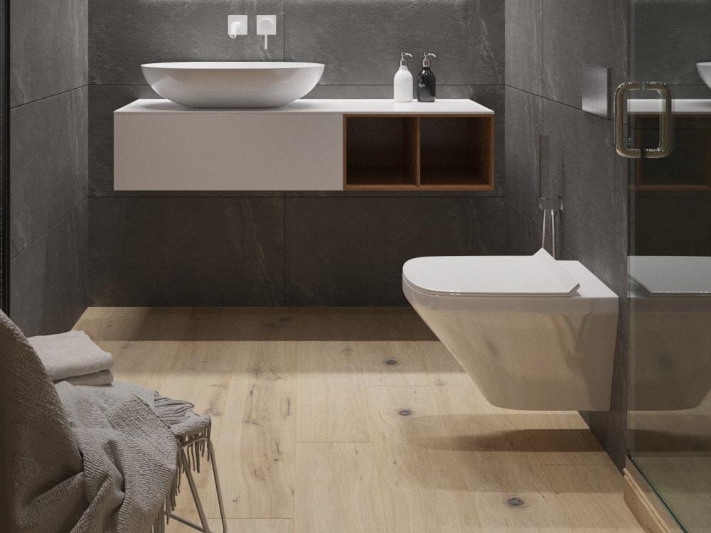 ванная комната в студии