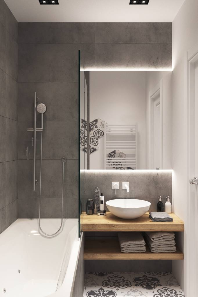 ванная комната в эко стиле
