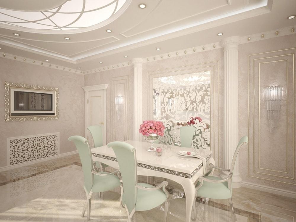 столовая в дворцовом стиле