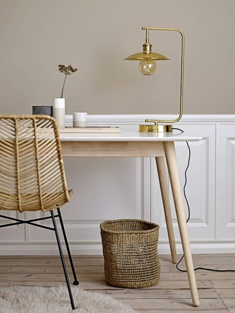 плетеная мебель в скандинавском интерьере