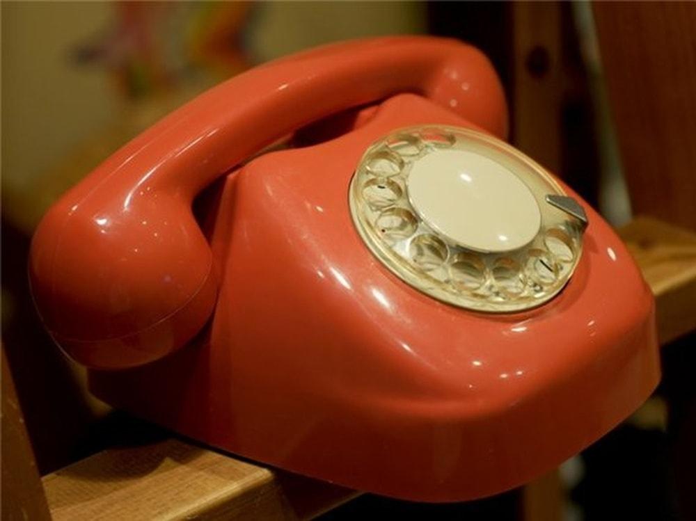 дисковый ретро телефон