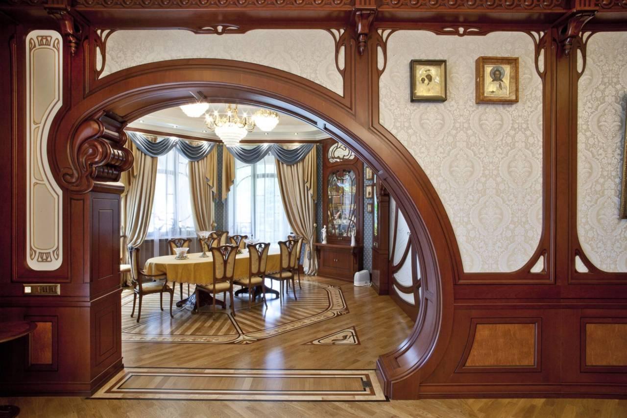 Стиль модерн в интерьере: гнутый, деревянный, кованый