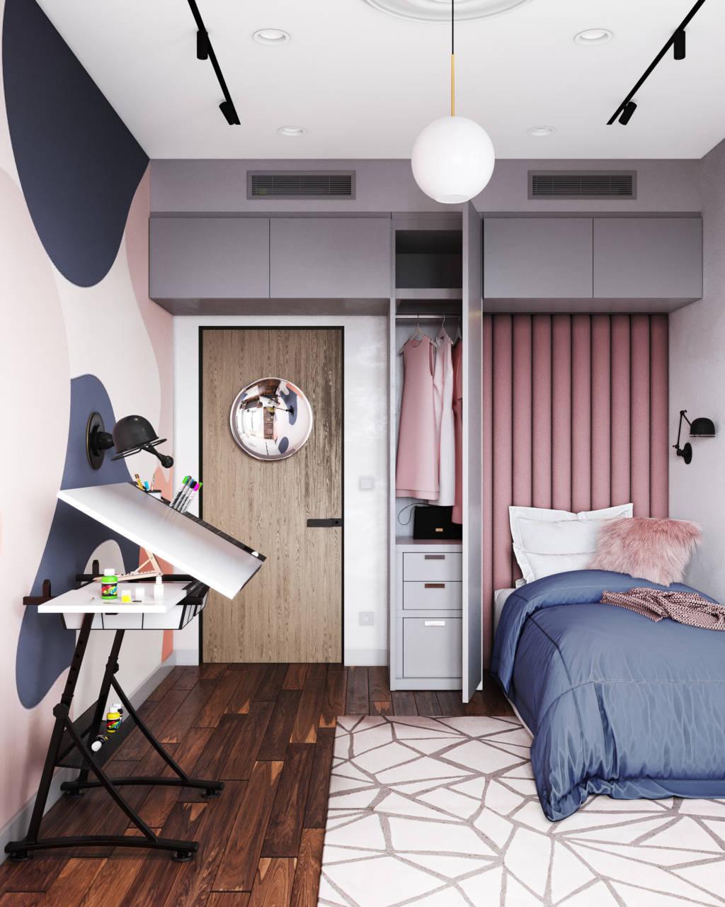 Современная спальня девочки