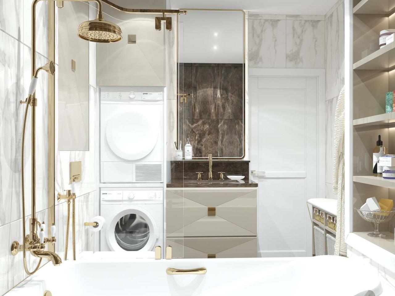 Золотой душ в ванной
