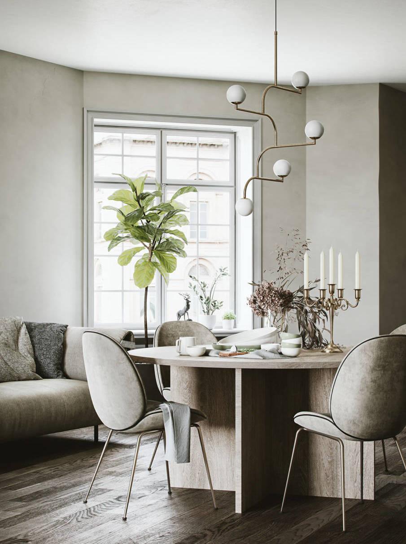 Светлая столовая