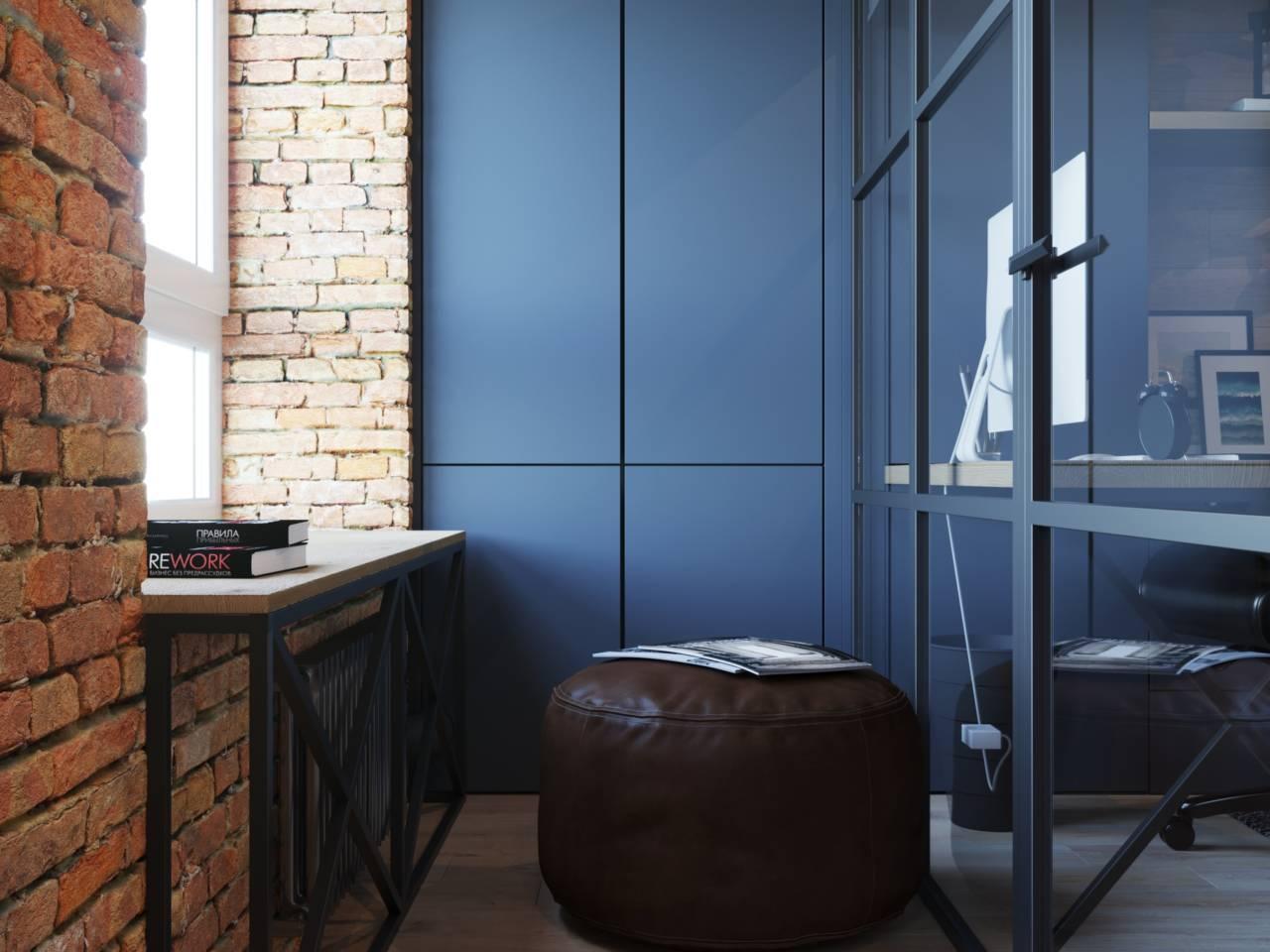покрасить стены в синий цвет