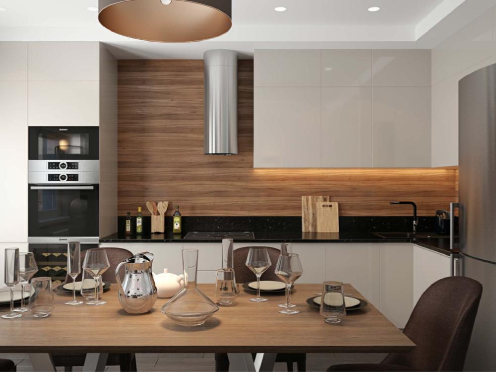 современый интерьер кухни